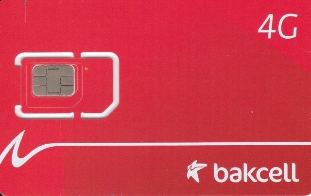 BakucellのプリペイドSIMカード 表