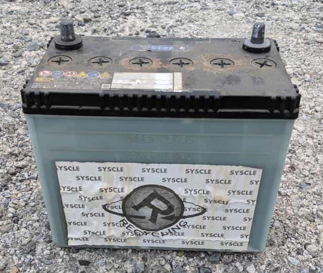 取り外した古いバッテリー
