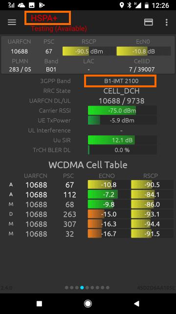 3Gで接続した状態