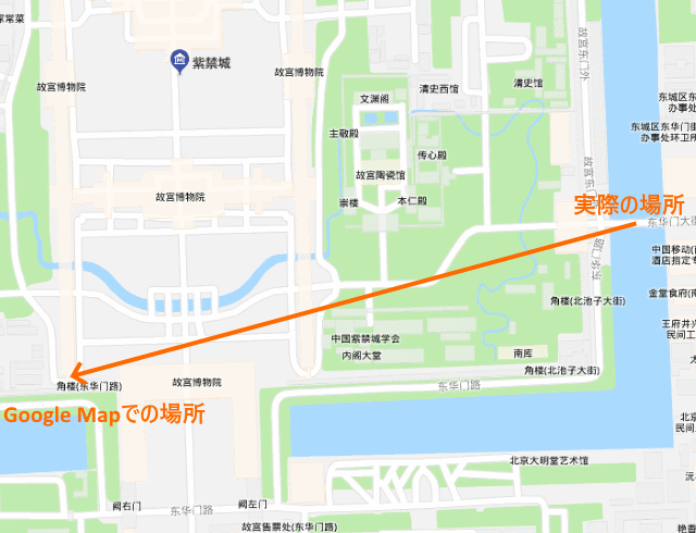Google Mapのずれ