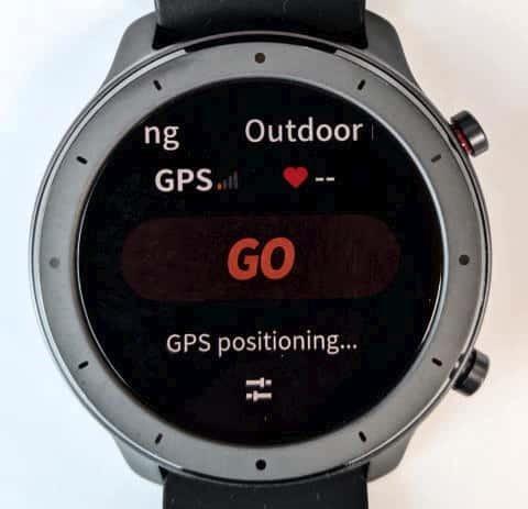 ワークアウトの開始 (GPS測位待ち)