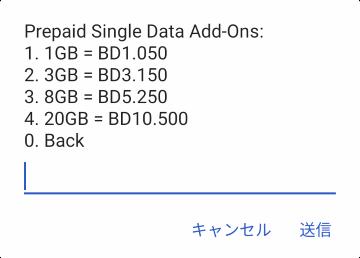 購入できるData Add-Onパッケージ
