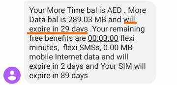 データパッケージはあと29日利用可能