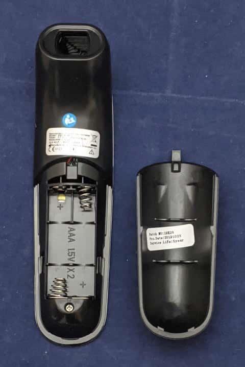 非接触体温計T09 電池ボックス