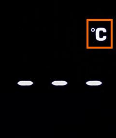 温度単位の変更 摂氏を選択
