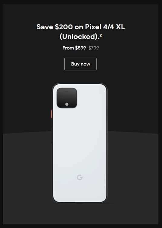 Pixel 4のブラックフライデーのセール