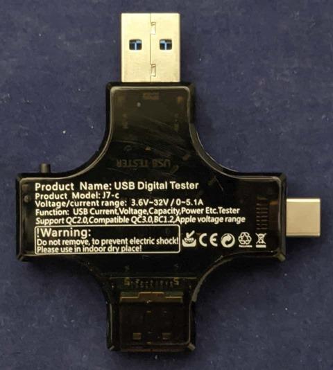 USBチェッカー本体 裏