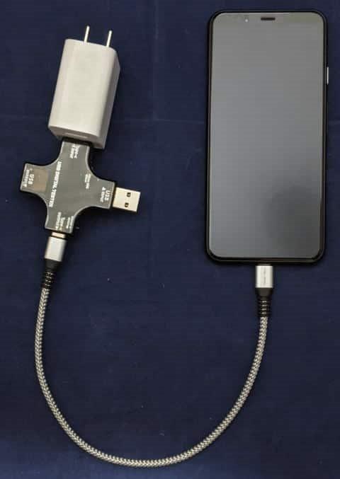 USB Type-Cによる充電を測定するための接続