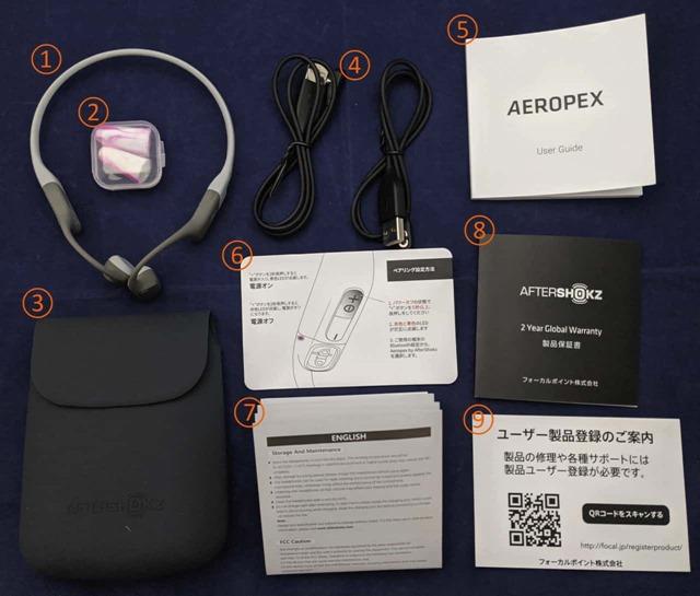 Aeropexの内容物一覧