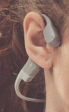 骨伝導なので耳を塞がない
