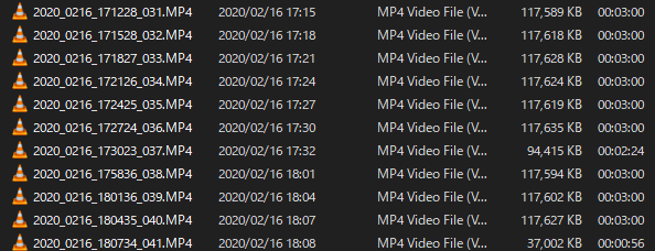 HD画質で記録されたファイル