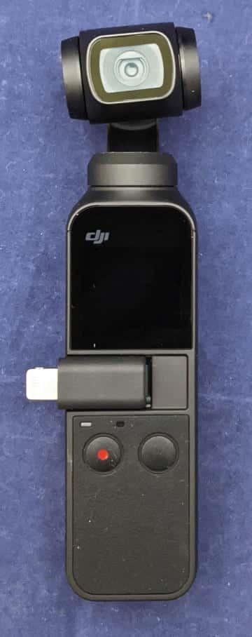 スマートフォンアダプタ Lightningを装着