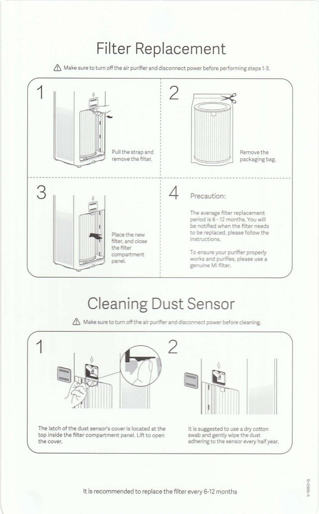 フィルターの交換とダストセンサーの清掃方法