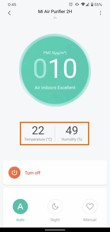 現在の気温と湿度