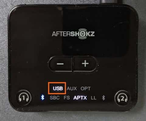 USBが点灯